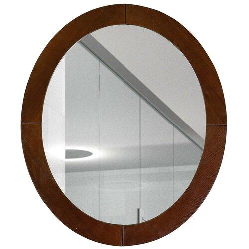 Фото - Зеркало Мебелик Берже 24 60х70 темно-коричневый в раме подставка мебелик берже 14 темно коричневый