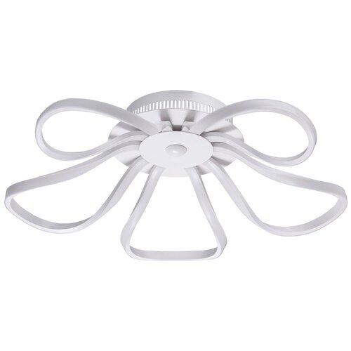 Люстра светодиодная De Markt Аурих 496016905, 30 Вт, цвет арматуры: белый, цвет плафона: белый люстра светодиодная de markt ракурс 8 631014201 led 30 вт