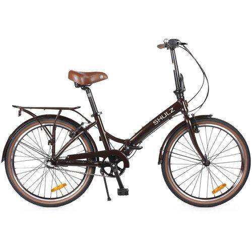 Городской велосипед SHULZ Krabi V-Brake коричневый (требует финальной сборки)