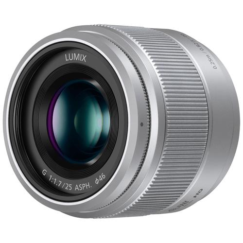Фото - Объектив Panasonic 25mm f/1.7 G Aspherical (H-H025) серебристый объектив panasonic lumix h hs043e k 42 5mm f 1 7 g aspherical power o i s h hs043e черный