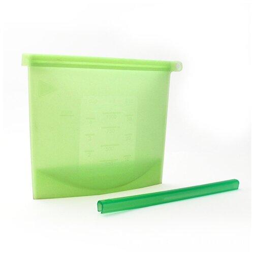 Многофункциональный силиконовый пакет для продуктов герметичный, многоразовый (зеленый),Kitchen Angel KA-SFB-01 крышка kitchen angel ka lid 05 зеленый