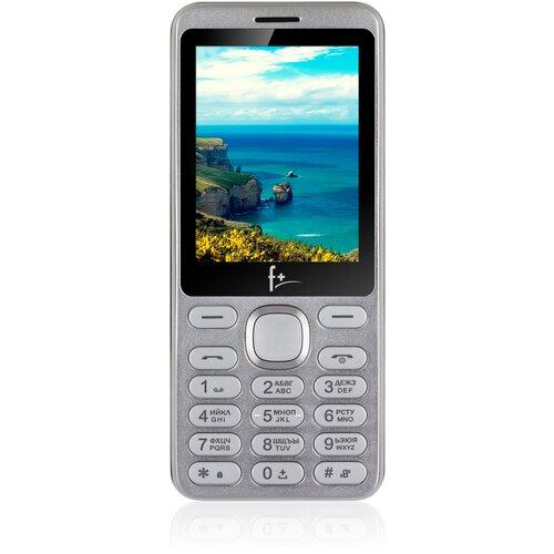 Телефон F+ S286, серебристый/черный