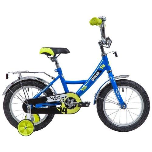 Фото - Детский велосипед Novatrack Urban 14 (2019) синий (требует финальной сборки) детский велосипед novatrack urban 16 2019 синий требует финальной сборки