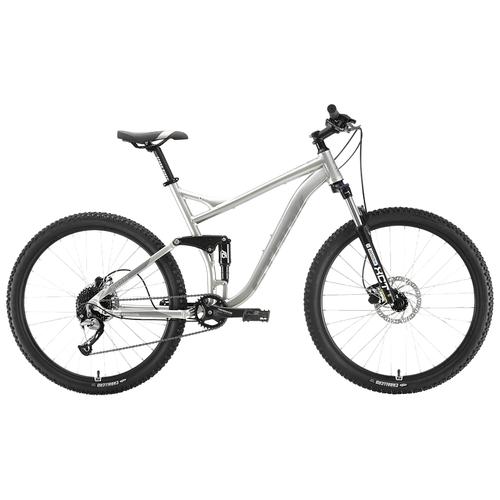 Горный (MTB) велосипед STARK Tactic 27.5 FS HD (2020) серебристый/серый 18 (требует финальной сборки)