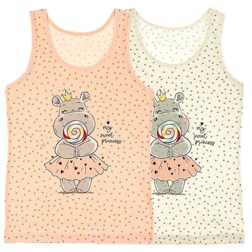 Купить Майка для девочек 49612LS, Цвет: Микс, Размер: 8/9, 5шт. в упаковке, Donella, Белье и купальники