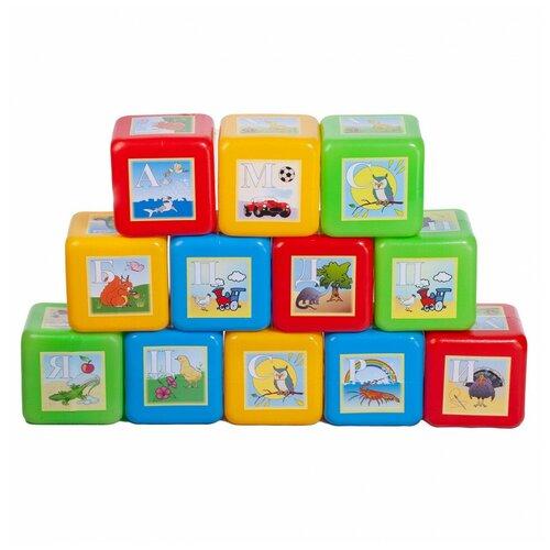Кубики Юг-Пласт Набор XL азбука 12 деталей пластик Юг-Пласт