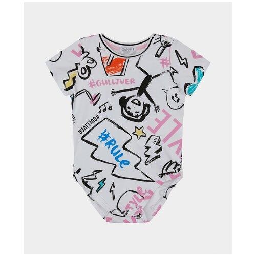 Купить Боди с коротким рукавом с принтом Gulliver 12131GBC1101 размер 92, Gulliver Baby