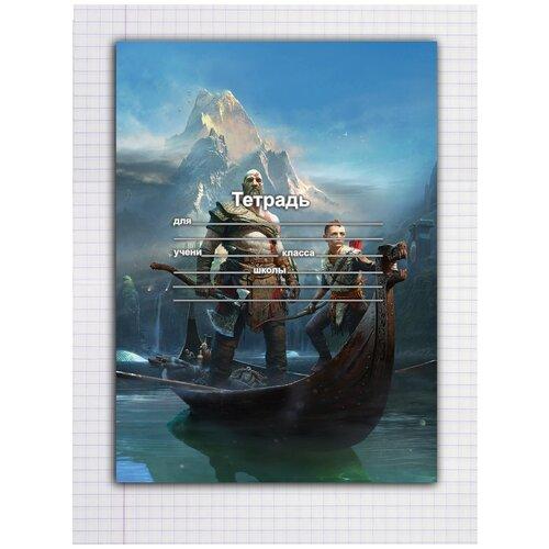 Купить Набор тетрадей 5 штук, 12 листов в клетку с рисунком God of war, Drabs, Тетради
