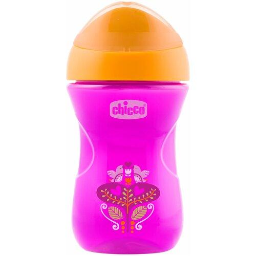 Фото - Поильник Chicco Easy Cup, 266 мл розовый/оранжевый тарелка chicco easy feeding 6м розовый