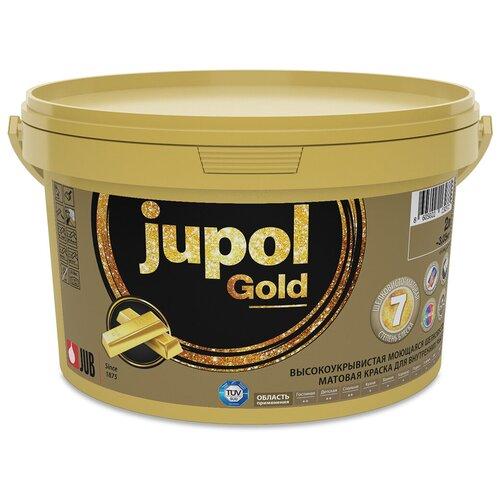 Краска JUB Jupol Gold влагостойкая моющаяся матовая белый 2 л