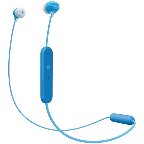 Беспроводные наушники Sony WI-C300, синий беспроводные наушники sony wi c310 white