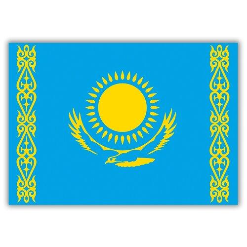 Магнит на холодильник большой - A4, Флаг Казахстана