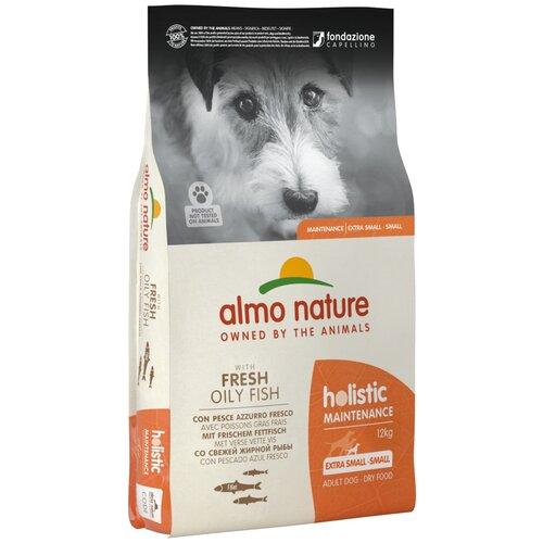 Сухой корм для собак Almo Nature Holistic, рыба 12 кг (для мелких пород) сухой корм для щенков almo nature holistic курица 12 кг для мелких пород