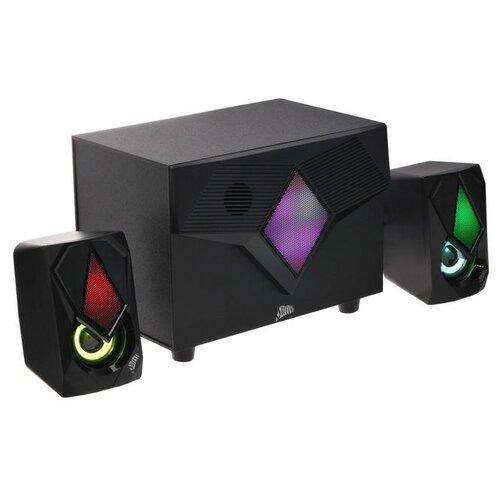 Компьютерные колонки 2.1 Qumo Shield AS006 15 Вт подсветка USB черные 5385971