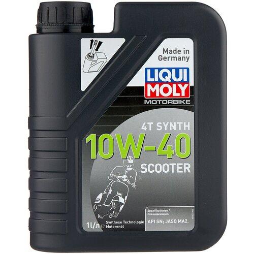 Полусинтетическое моторное масло LIQUI MOLY Scooter Motoroil Synth 4T 10W-40, 1 л недорого