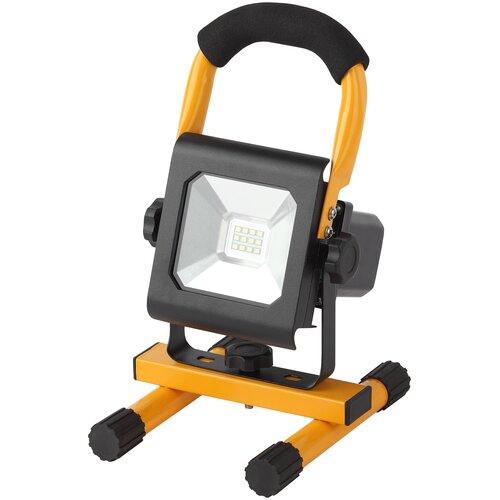 Фото - Прожектор светодиодный аккумуляторный 10 Вт ЭРА LPR-10-6500K-А-M SMD PRO светодиодный прожектор эра lpr 30 6500k m smd б0017301