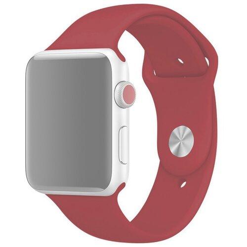 Ремешок для Apple Watch 1-6/SE силиконовый 42/44 мм InnoZone - Гранатовый (APWTSI42-60)