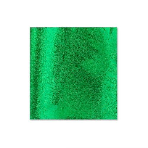 Поталь для золочения в листах 8,5 X 8,5 см 5 листов Зеленый