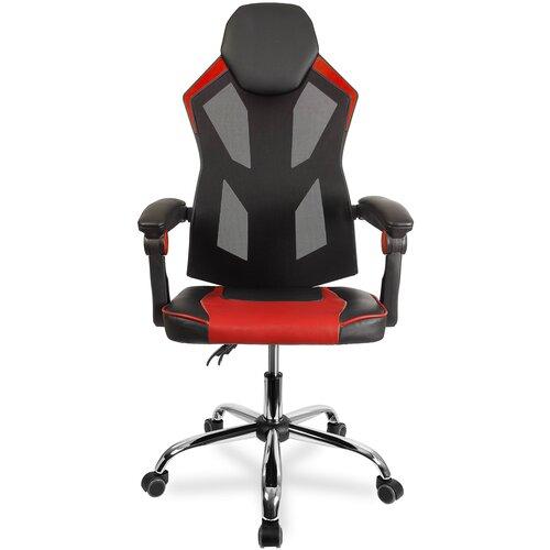 Компьютерное кресло College CLG-802 LXH игровое, обивка: искусственная кожа, цвет: черный/красный