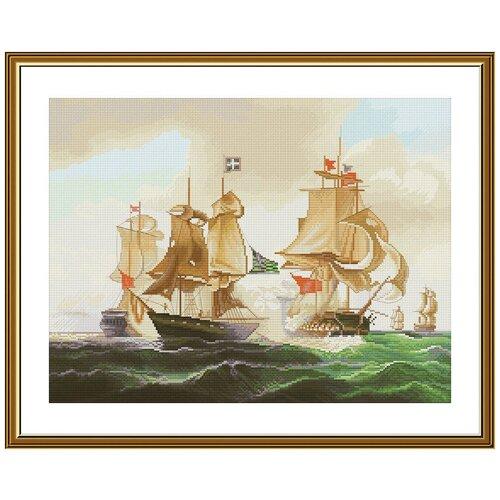 Купить Набор для вышивания Нова Слобода РЕ №11 3506 Морской бой, NOVA SLOBODA, Наборы для вышивания
