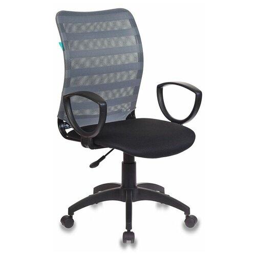 Компьютерное кресло Бюрократ CH-599AXSN офисное, обивка: текстиль, цвет: серый / черный TW-11 недорого
