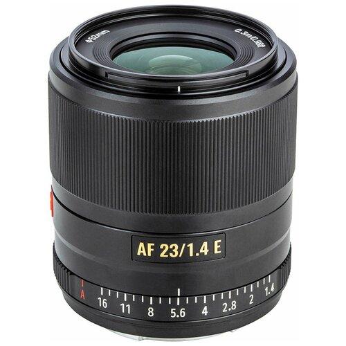 Фото - Объектив Viltrox AF 23mm f/1.4 Sony E черный объектив viltrox af 23mm f 1 4 ef m серебристый