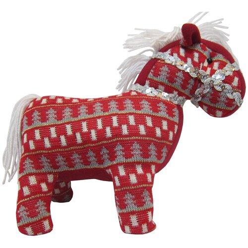 Мягкая игрушка Snowmen Лошадь красная 29 см