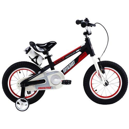 Детский велосипед Royal Baby RB14-17 Freestyle Space №1 Alloy Alu 14 черный (требует финальной сборки) двухколесные велосипеды royal baby freestyle space 1 alloy 14