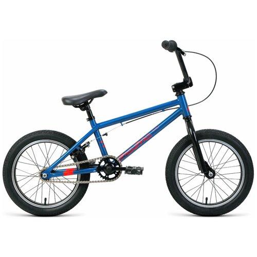 Подростковый BMX велосипед FORWARD Zigzag 16 (2020) синий/оранжевый (требует финальной сборки) детский велосипед forward nitro 18 2020 оранжевый белый требует финальной сборки