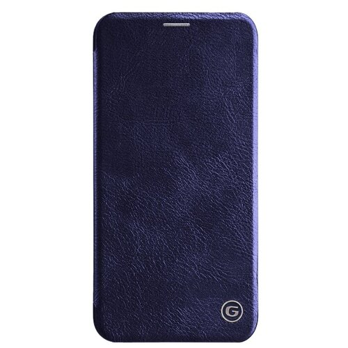 Защитный чехол книжка для Apple iPhone 12 / 12 Pro с мягкой подкладкой синий