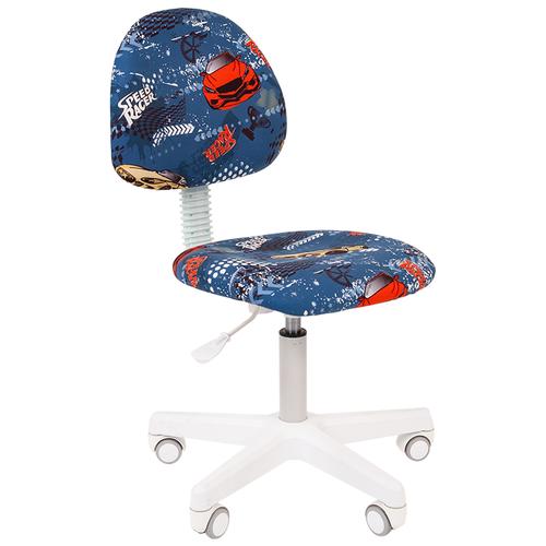 Фото - Компьютерное кресло Chairman Kids 104 детское, обивка: текстиль, цвет: машинки компьютерное кресло chairman kids 101 детское обивка текстиль цвет монстры