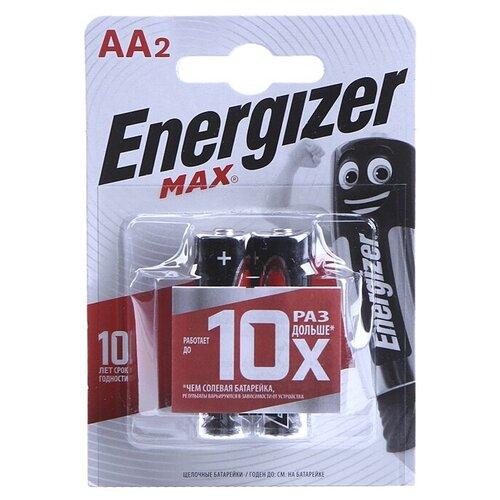 Фото - Батарейка Energizer Max AA/LR6, 2 шт. серебряно цинковая батарейка для часов energizer 371 2 шт