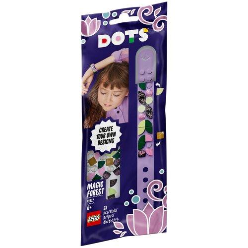 Конструктор LEGO DOTS 41917 Браслет Волшебный лес конструктор lego dots 41919 браслет молния