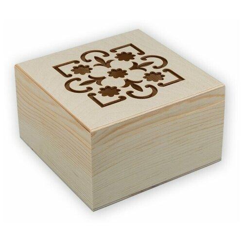 Купить Mr. Carving Заготовка для декорирования Шкатулка с резной крышкой ВД-468 бежевый, Декоративные элементы и материалы