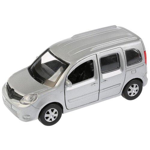 Легковой автомобиль ТЕХНОПАРК Renault Kangoo (KANGOO-SL/BK/RD), 12 см, серебристый легковой автомобиль технопарк renault kaptur 1 36 12 см оранжевый
