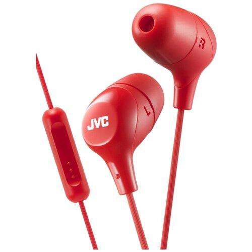 Наушники JVC HA-FX38M, red наушники jvc ha fx38m b e черный
