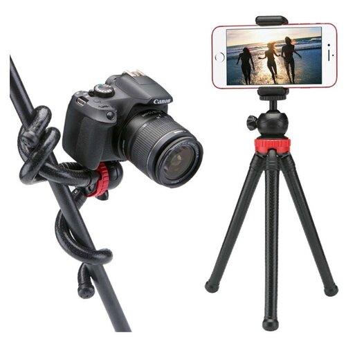 Премиум штатив из углеродного волокна для мобильного телефона / Штатив для экшн камеры GoPro (Гоу Про) Sony (Сони) / Селфи монопод для съемки фото и видео / Гибкий держатель тренога для селфи / Лучший подарок