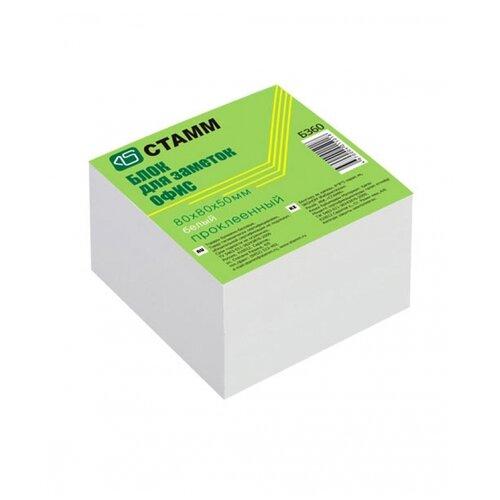 Купить СТАММ Блок для записи Офис 8x8x5 см (БЗ60) белый, Бумага для заметок