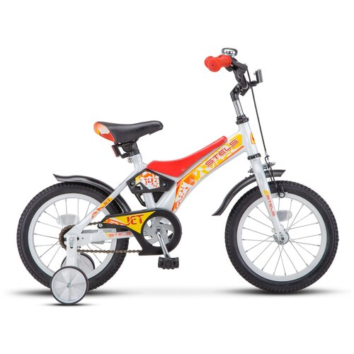 Детский велосипед STELS Jet 14 Z010 (2020) белый/красный 8.5 (требует финальной сборки) детский велосипед stels jet 14 z010 2018 белый синий 8 5 требует финальной сборки