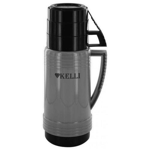 Классический термос Kelli KL-0944, 0.7 л кофейный