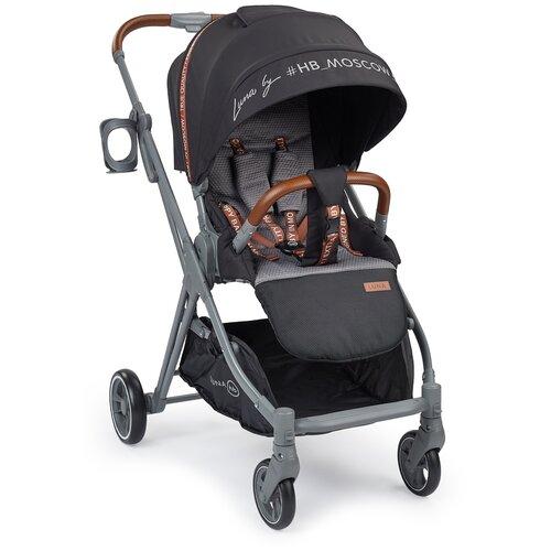 Прогулочная коляска Happy Baby Luna, black happy baby коляска трость happy baby twiggy green
