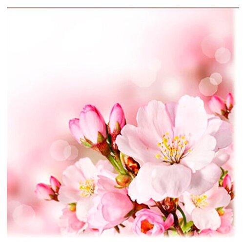 Салфетки бумажные Lori Цветы 33*33см
