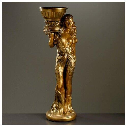 Хорошие сувениры Фигура с кашпо Восточная красавица бронза 97см фигура с кашпо гречанка большая бронза 88см 4253601