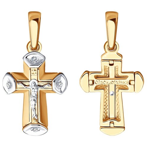 Diamant Подвеска из комбинированного золота с бриллиантами 51-231-01071-1