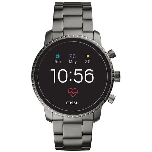Умные часы FOSSIL Gen 4 Smartwatch Explorist HR (stainless steel), smoke