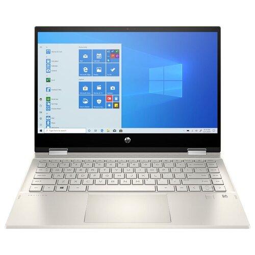 "Ноутбук HP PAVILION x360 14-dw1009ur (Intel Core i7 1165G7 2800MHz/14""/1920x1080/16GB/512GB HDD/Intel Iris Xe Graphics/Windows 10 Home) 2X2R5EA теплый золотистый/ярко-золотистый"