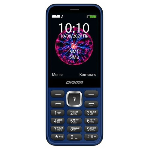 Телефон DIGMA Linx C281, синий телефон digma linx a241 black