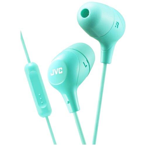 Наушники JVC HA-FX38M, green наушники jvc ha fx38m b e черный