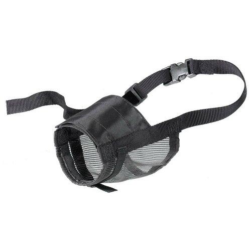намордник для собак ferplast safe medium обхват морды 20 25 см черный Намордник для собак Ferplast Muzzle net XXL, обхват морды 19-35 см черный