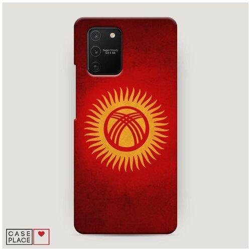 Чехол Пластиковый Samsung Galaxy A91 Флаг Киргизии